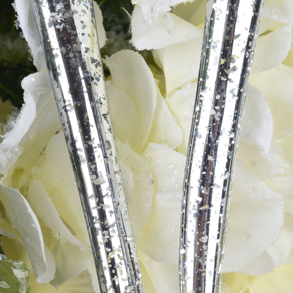 Set of 12 Look of Mercury Glass Icicles