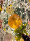 Large Soft Pink Iridescent Translucent Glass Ornaments
