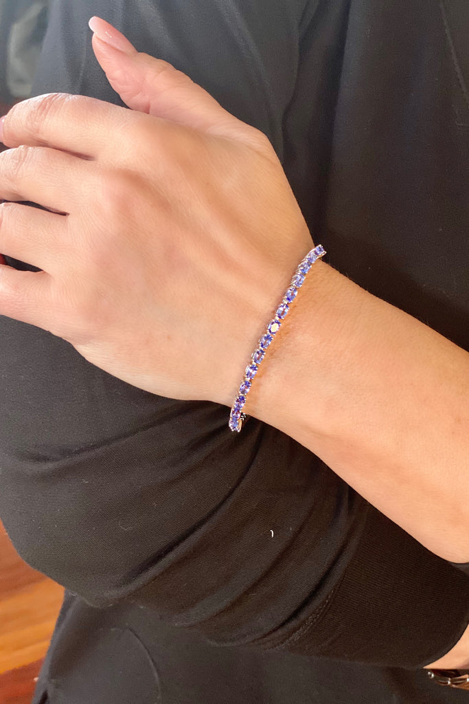 Adjustable Tanzanite Friendship Bracelet