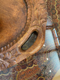 Dark Carved Decorative Tray