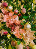 Pearl Flowering Branches European Glass Ornaments