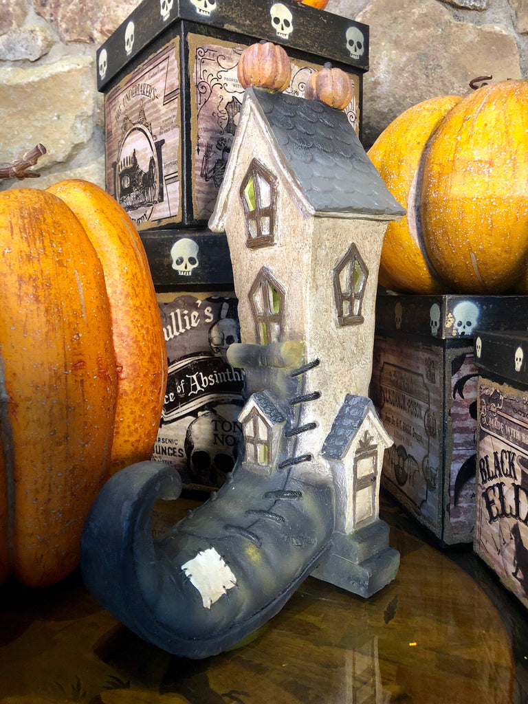 Lighted Storybook Halloween House