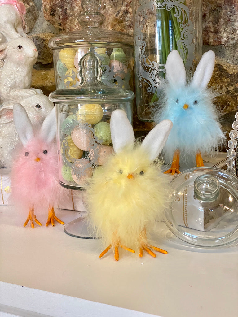Fluffy Chicks with Bunny Ears