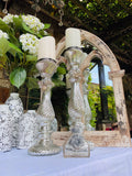 Set of 2 Mercury Glass Candle Holders