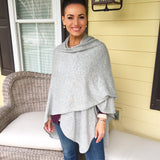 The 100% Cashmere Sweater Knit Ruana