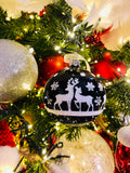Sparkling Reindeer European Glass Ornaments