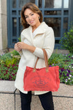 Provence Petite Tote in Stone Washed Red