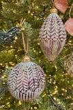 Set of 4 Large Glass Ornaments