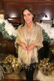 Sheer Sparkle Double Layer Scarf