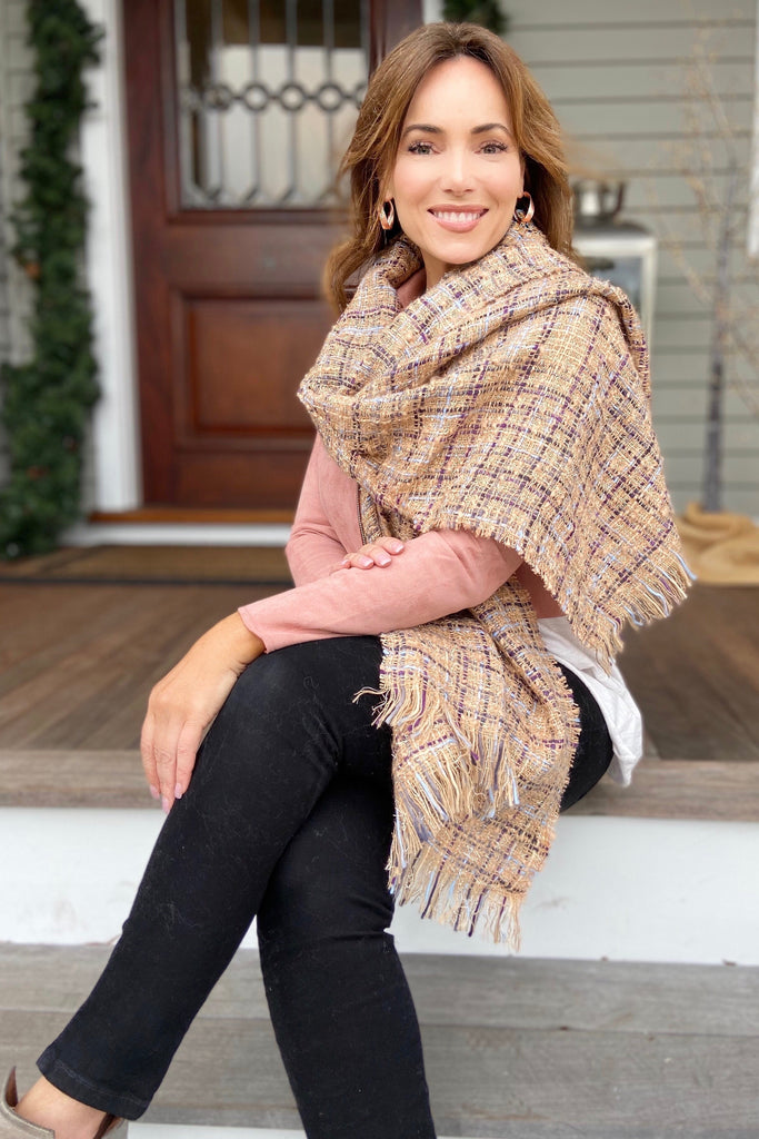 Luxury Inspired Boucle Scarf