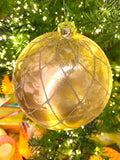 Large Glitter Net Glass Ornaments