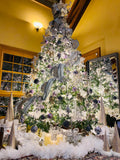 Winter White Frosted Branches European Glass Ornaments