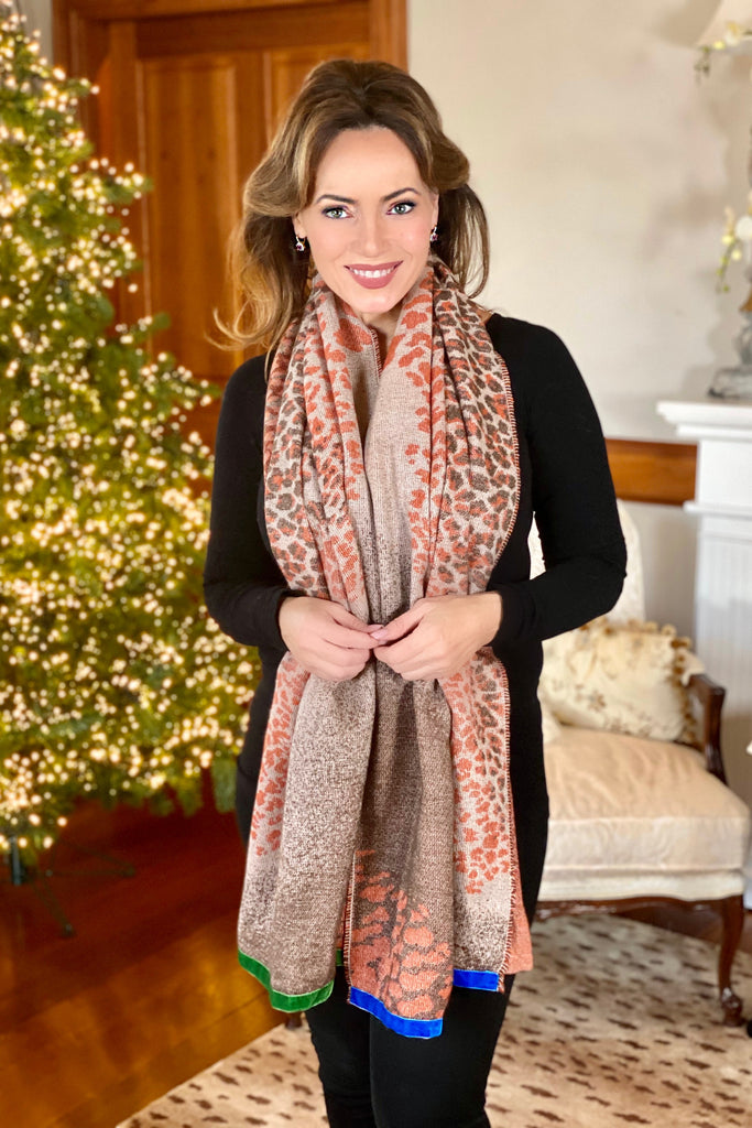 Scarf with Animal Print
