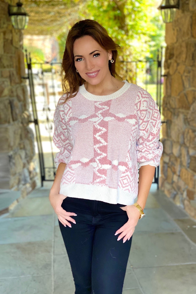 Pink Alpine Sweater