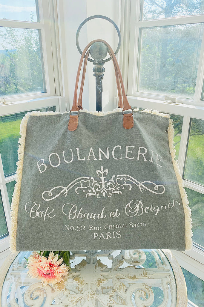 Grey Boulangerie Tote