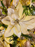White Jeweled Poinsettia Stems
