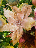 Light Gold Poinsettias