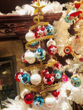Sparkling Snowflakes European Glass Ornaments