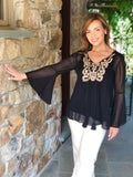 Gold Embellished Tunic