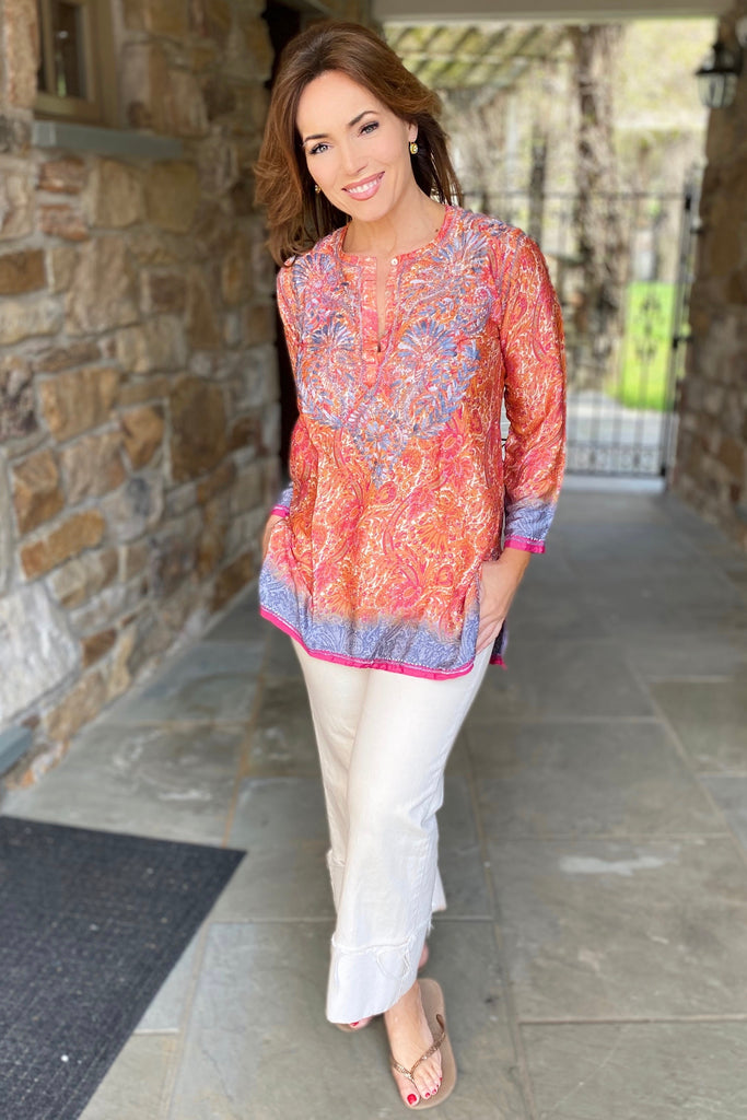 Sunset Silk Blend Tunic