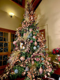 Rose Gold and Rich Colors Christmas Tree