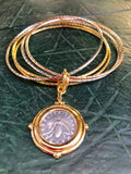 Italian Bee Lire With Layered Bangles
