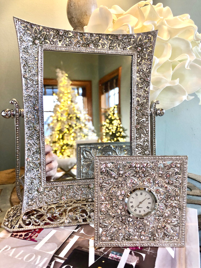 Estate Jewelry Inspired Magnifying Mirror