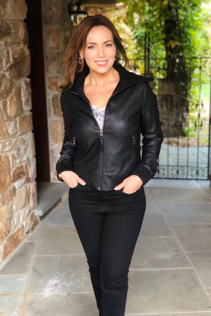 The Marilyn Vegan Leather Jacket