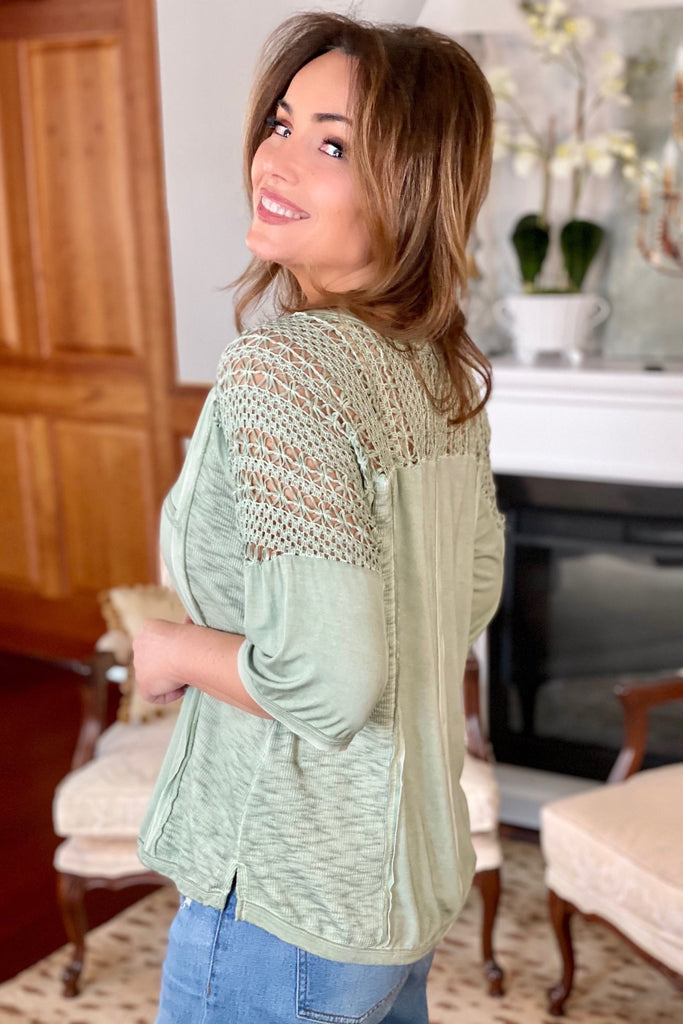 Crochet Detail Blouse