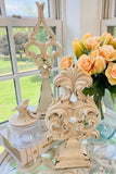Grand Antiqued Scroll Finials