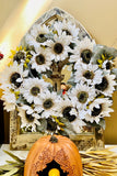 White Sunflower Wreath