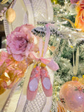 Ballet Slippers Glass Ornaments