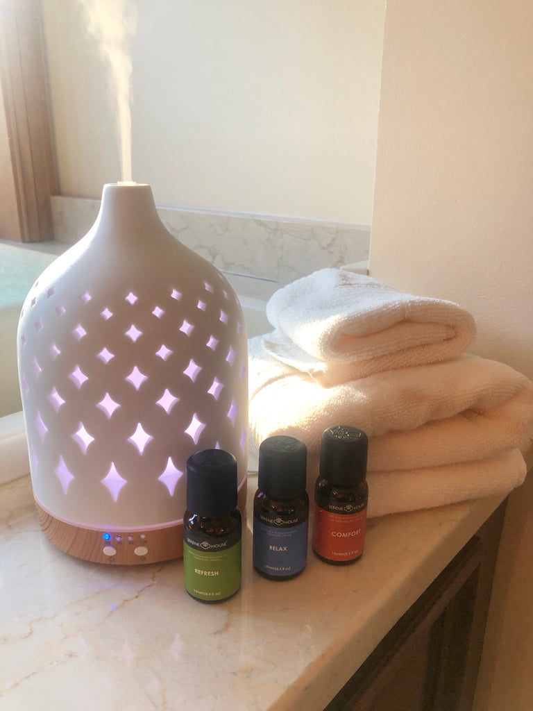 Ceramic and Wood Essential Oil Diffuser