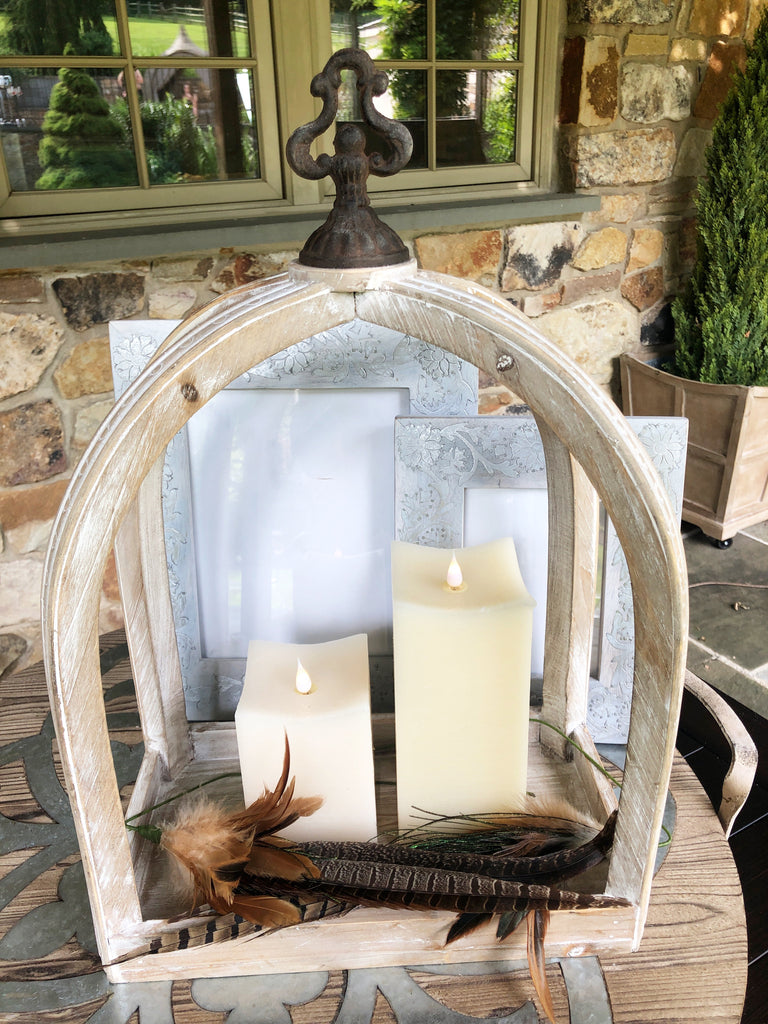Square Candle with 3D Flame