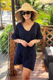 Navy Tunic Embroidered Dress