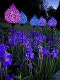 LED Colored Solar Orb Garden Stakes
