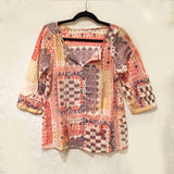 Bandana Print Cotton Blouse