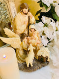 Holy Family with Angel and Lamb
