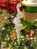 Set of 12 Glittering Icicle Ornaments