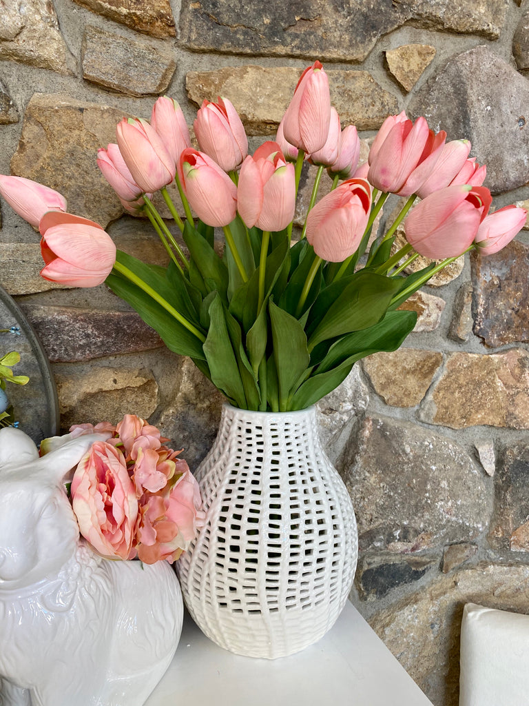 Silk with Real Touch Grand Tulip Bouquet