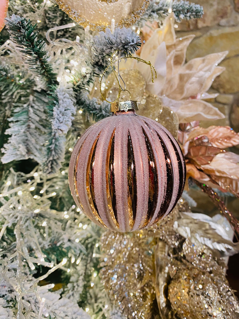 Large Pink Pleated Ornaments