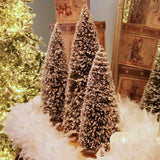 Set of 3 Extra Large Flocked Evergreen Trees