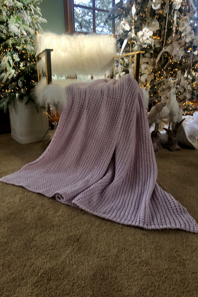 Chenille Fleece Throw