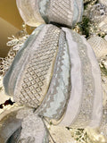 2.5''W Luxury Winter Sky Wired Christmas Ribbon