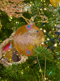 Peacock Inspired Glass Ornaments