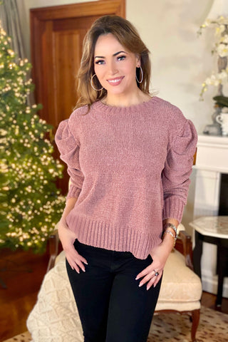 Pink, Grey, and Burgundy Star Sweater