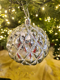 Set of 12 Look of Mercury Glass Ornaments