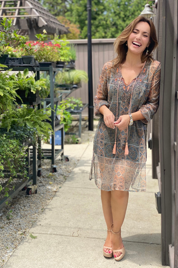 Patterned Resort Caftan