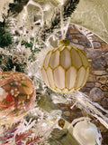 Blush and White Assorted Shapes Glass Ornaments