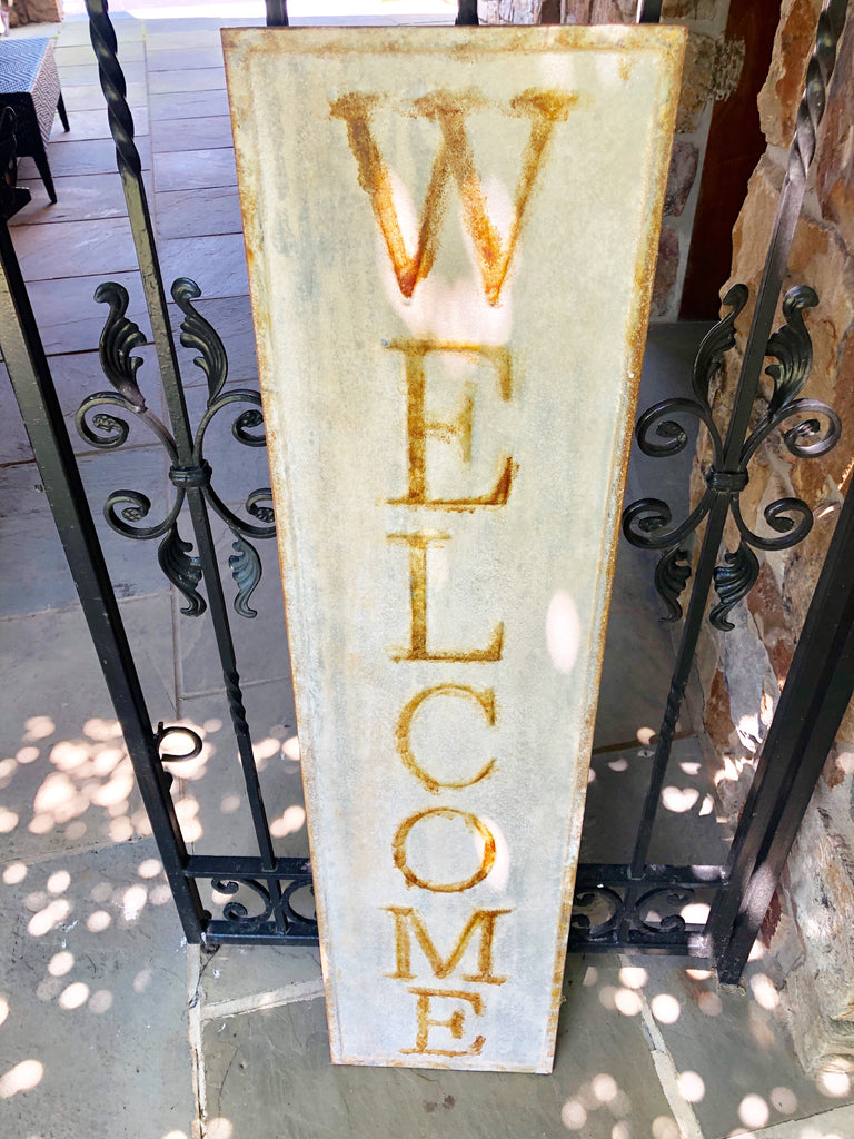 Gold Accents Welcome Sign